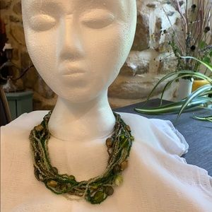 layered green necklace